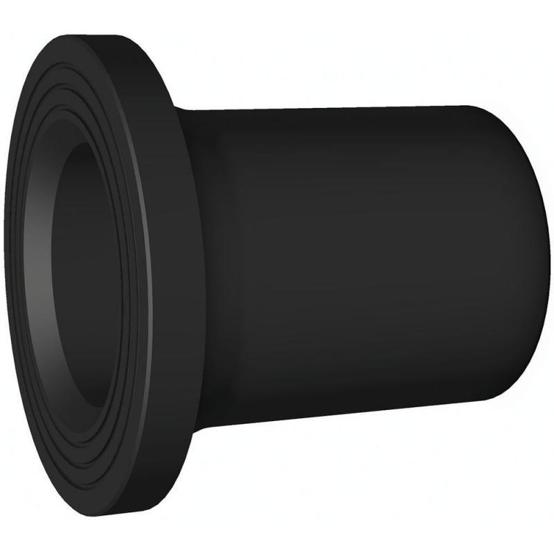 75 hosszú hegtoldatos kötőgyűrű gömbcsaphoz PE100 SDR11 fekete BR
