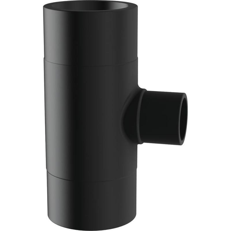 63/32 hosszú szűkített T-idom PE100 SDR17 fekete BR