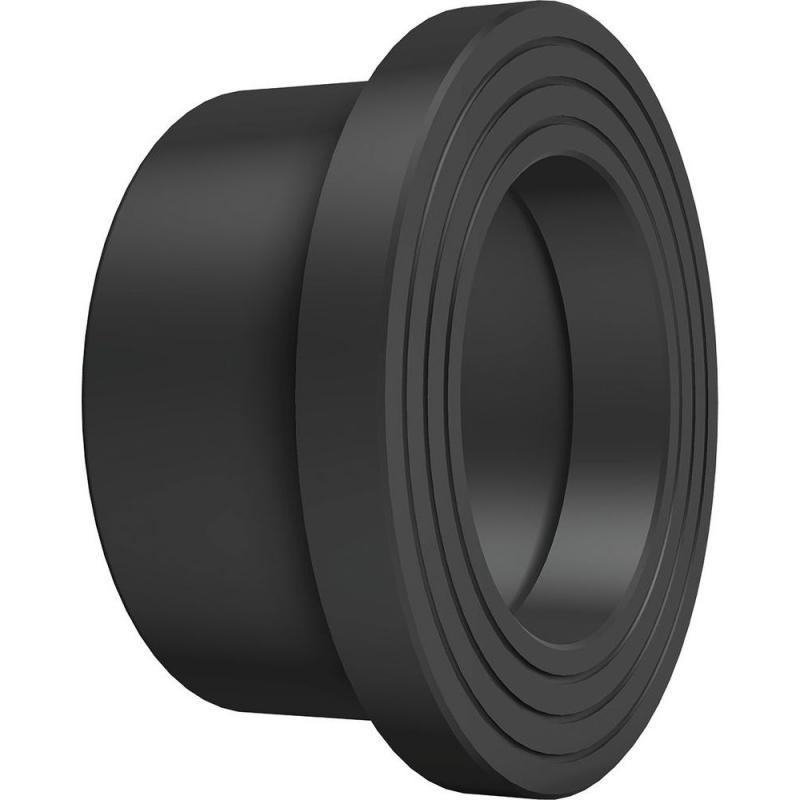 1000 rövid hegtoldatos kötőgyűrű PE100 SDR17 fekete BR