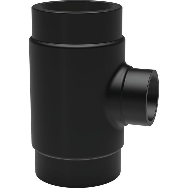 25 rövid T-idom PE100 SDR11 fekete BR