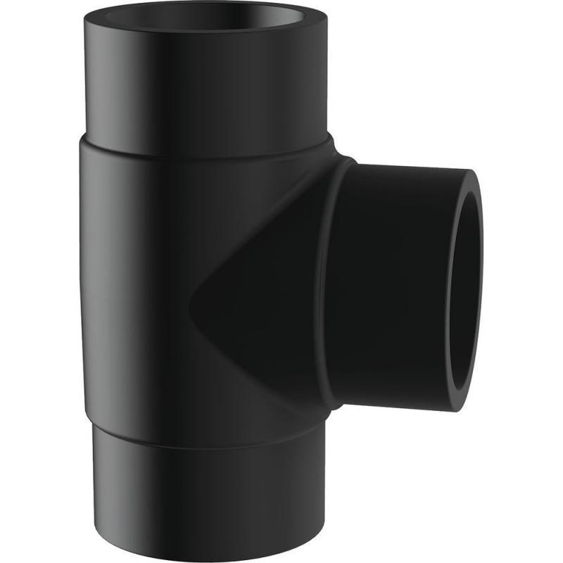 25 hosszú T-idom PE100 SDR11 fekete BR