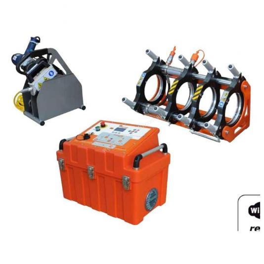Ritmo EASYLIFE 250 V0 félautomata jegyzőkönyvezős tompahegesztőgép 75-225 szűkítő befogósorozattal