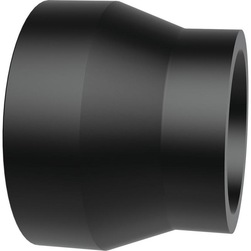 110/50 rövid szűkítő idom PE100 SDR11 fekete BR